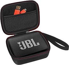【Stoßfest staubdicht und halb wasserdicht】 Scorel Tasche für JBL Go 2, Harter Eva Schutzhülle Schutztasche Reisetasche für JBL Go & JBL GO 2 Bluetooth Lautsprecher