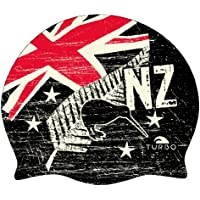 Turbo New Zealand Vintage - Gorro de natación, color blanco, talla única