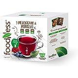 FoodNess - Capsula Tisana Mirtillo e Melograno compatibile Dolce Gusto bevanda senza glutine dal gusto aspro ed acidulo (1 bo