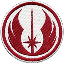 jedi order star wars red embroidered hook and loop cusson patch