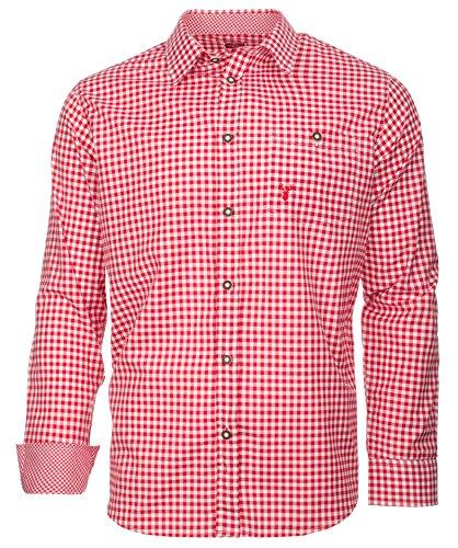 Trachtenhemd Hannes (XL, Rot)