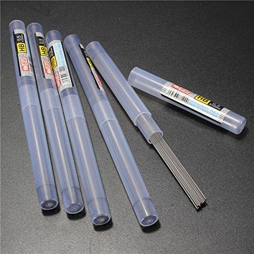 Tutoy 5 Tubes Hb/2 B/2 H Schwarze Blei-Minen-Schlauch 0,5 mm Mit Etui Für Mechanische Bleistift-2 B