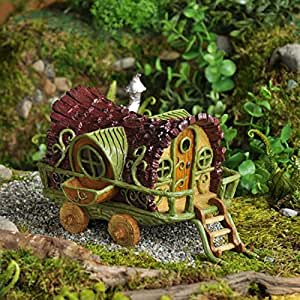 Roulotte Caravane Gitane De Jardin De Conte De F Es Miniature Jardin