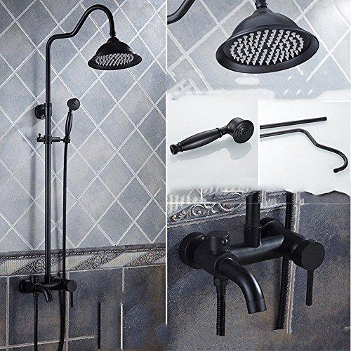 her Schwarz schwarz bronze antik duschgarnitur kupfer europäischen duschbad heiß und kalt wasserhahn kann mit der hand gehoben werden Wir bieten eine Reihe von.Ihren Besuch. ()