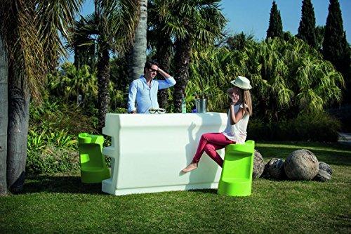 Modum Outdoor Cocktailbar LED beleuchtetes Bar-Set Zanzibar in Italienischem Design/Garten/Terrasse/Balkon