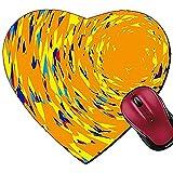 Mousepad Herzform Maus Pads Hintergrund Material Tapeten Muster von Graffiti Stil Sun