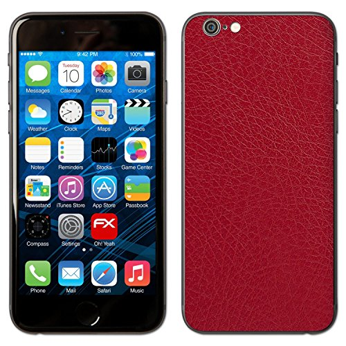 """Skin Apple iPhone 6 """"FX-Leather-Black"""" Sticker Autocollant FX-Leather-Red"""