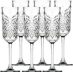 Pasabahce 440356 Flûte à champagne en verre Timeless en cristal Hauteur env. 22,5 cm, 17,5 cl, 6 pièces en verre