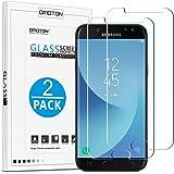 OMOTON [neuste Version] Schutzfolie für Samsung Galaxy J5 (2017) Duos (5,2 Zoll), 9H Härte, Anti-Kratzen, Anti-Öl, Anti-Bläschen,Kristall-Klar, 2 Stück