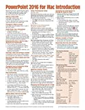 PowerPoint 2016 for Mac Introduction Quick Reference Guide (Cheat Sheet of Instructions, Tips & Shortcuts - Laminated Card) by Beezix Inc (2015-10-26)