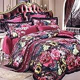 Ren&Yang Seta di jacquard biancheria da letto stile pastorale campagna americana ovatta qualità di lusso weddinghigh dieci pezzi di biancheria da letto set -A King