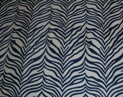 Crewel Rug Zebra Blue Chain Stitched Wool