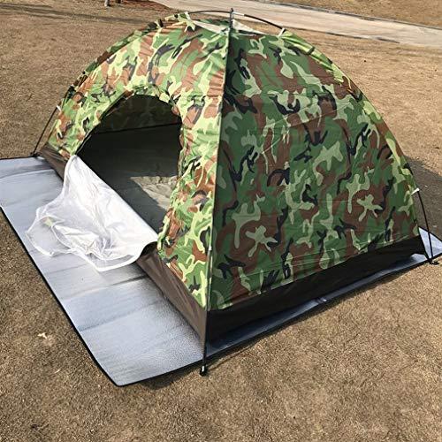 Leoboone Ultra Light 2 Personen wasserdicht Camping Camouflage Zelt Single Layer mit runder Tür für Outdoor Camping Tourismus Zelt -