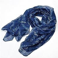 lureme® stampa nota di musica leggera della moda sciarpa lunga (01003407)