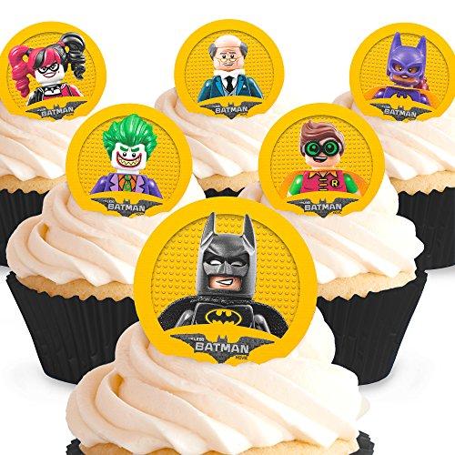 Cakeshop 12 x Vorgeschnittene und Essbare Lego Batman Movie Kuchen Topper (Tortenaufleger, Bedruckte Oblaten, Oblatenaufleger) (Topper Batman Kuchen)