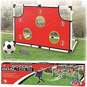 Childrens Kids Mini Football Soccer Ball Goal Post Net
