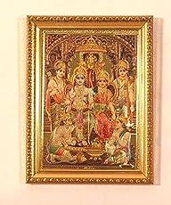 LifeEstyle God Ram Darbar,Shree Ram Darbaar Golden Picture 5x7 inch with Photo Frame …
