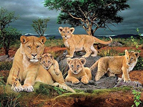 Wild Republic 21279 3D poster lions