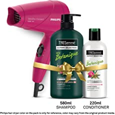 TRESemme Nourish & Replenish Shampoo 580ml & Conditioner 220ml Combo Pack + Philips Hair Dryer