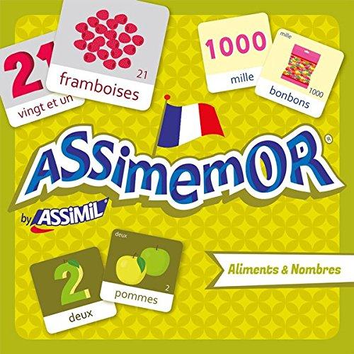 Assimemor aliments et nombres (coffret jeu de 64 cartes)