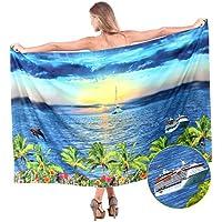 La Leela dolce liscio donne crociera mare spiaggia costumi da bagno bikini sarong 88x42 pollici