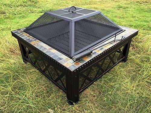 outour 76,2cm cuadrado Fire Pit Fire mesa para calentador de Patio al...