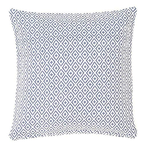 LULABE Home Square Blue Crystal Printed Throw Pillow Case Decorative Pillow Cushion Cover Pillowcase for Couch Sofa Or Bed Set Cozy Home Decor Size:18 X 18 Inches/45cm x 45cm Blue Crystal Case