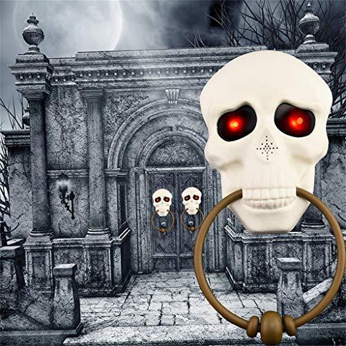 DeHolifer Halloween Horror Türklingel Ghost Festival KnochenTricky Spielzeug Spukhaus Beleuchten Kürbis Knochen - Aufblasbares Kürbis Kopf Kostüm