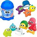 winfun - Juego 10 animalitos marinos de goma para el baño (46333) , color/modelo surtido