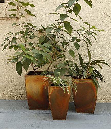 Decorative fioriera in metallo Piazza Stand di 3 Per esterno interno giardinaggio Decor Accessori