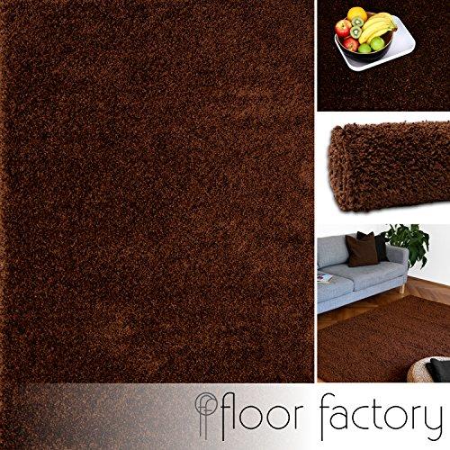floor factory Alfombra Moderna Colors marrón 140x200cm - Alfombra Sha
