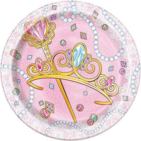 Unique Party 5813418cm Princesse fête plate (lot de 8)