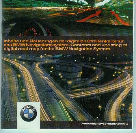 Digitale Straßenkarte für das BMW-Navigationssystem. Inklusive europäischem Hauptstraßennetz. Mitteleuropa Digital road map for the BMW Navigation System. [1 Stück CD-ROM Deutschland 65 90 6 907 680, CD-Part.No. T1000-2722, Jewel-Case im Pappschuber] Digital Navigation System