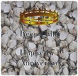 3drose 8x 8x 063,5cm Keep Calm und HAPPY 17. Anniversary mit Muscheln Foto Mauspad (MP _ 162849_ 1)