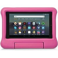Custodia per bambini per tablet Fire 7 (compatibile con dispositivi di 9ª generazione, modello 2019), Rosa