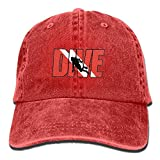 Scuba Dive Vintage Washed Dyed Cotton Twill Low Profile Adjustable Baseball Cap