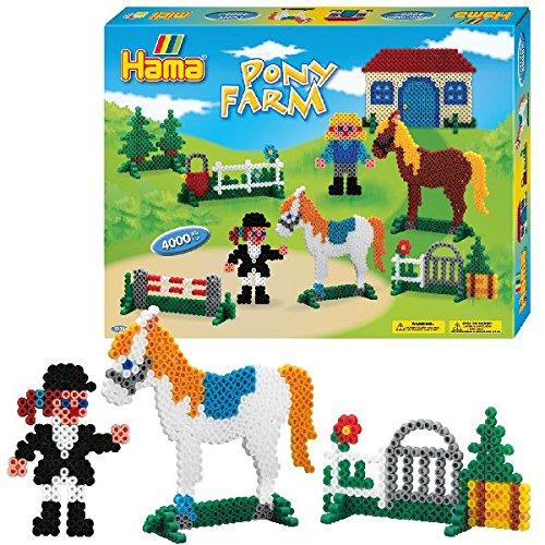 Hama 3136 - Geschenkpackung Ponyhof, ca. 4000 Bügelperlen und zwei Stiftplatten