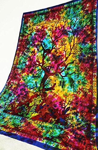 Feuchtigkeit-reichhaltige Hand-waschen (Future Mandala Life of Tree Wandteppich, Mandala-Design, für den Boho, 203,3 x 139,7 cm)