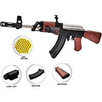 IndusBay® AK 47 BB Toy Gun for Boys , 23 Inches Long Army Style AK-47 with Laser Light & 1000 Plastic Bullets , Shooting…
