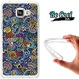 BeCool® Fun - Coque Etui Housse en GEL Flex Silicone TPU Samsung Galaxy A5 2016 , protège et s'adapte a la perfection a ton Smartphone et avec notre design exclusif.Dessin hippie aquatique