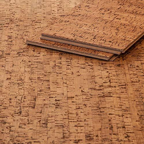 CORCASA Korkboden Fineline strukturiert lackiert Klicksystem warmer Kork Bodenbelag Klick Mojawe