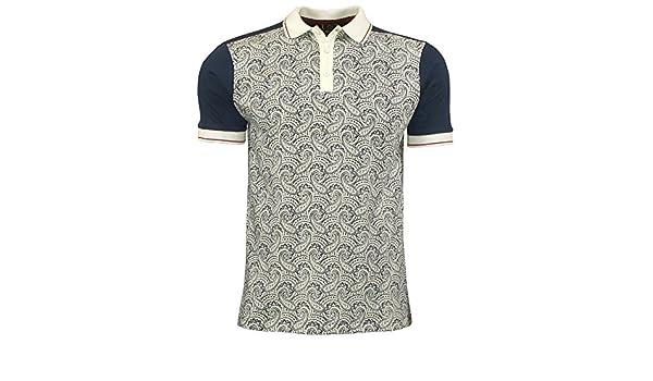 Homme Merc London Mod Rétro Classique Chien Dents Carreaux Polo Shirt Corona-Noir