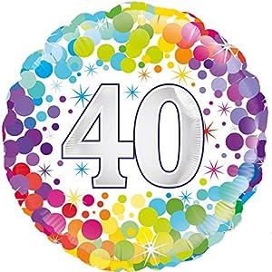 OakTree 226966 globo de cumpleaños, multicolor, 18 pulgadas