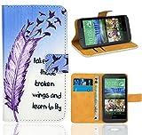 HTC Desire 510 Housse Coque, FoneExpert Etui Housse Coque en Cuir Portefeuille Wallet Case Cover pour HTC Desire 510
