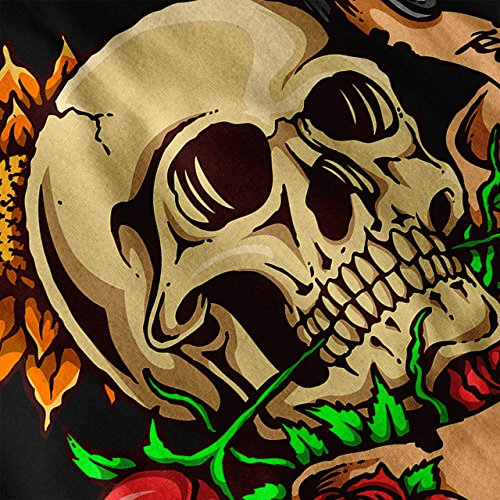 Mort Tête Rose Couteau Poignarder Femme S-2XL Sweat-shirt | Wellcoda Noir