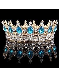 Corona de cristal HerZii con cristales brillantes para accesorios de boda, tiaras o fiesta