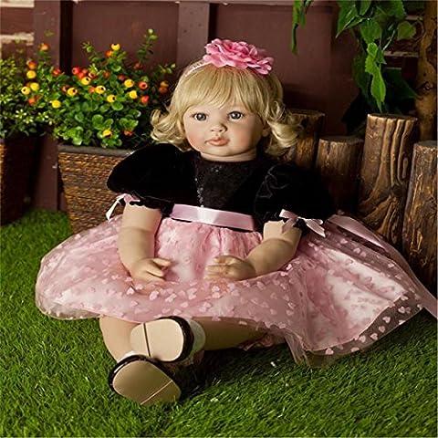Fachel Reborn Baby Doll Baby Dolls vinilo realista de silicona 22inch 55cm muñeca Niños bebes del vestido hermoso regalo de cumpleaños de regalo de
