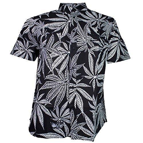 DGK Custom Cannabis Coppa In tessuto Shirt - cotone, Nero, 100% cotone, Uomo, XL, Nero