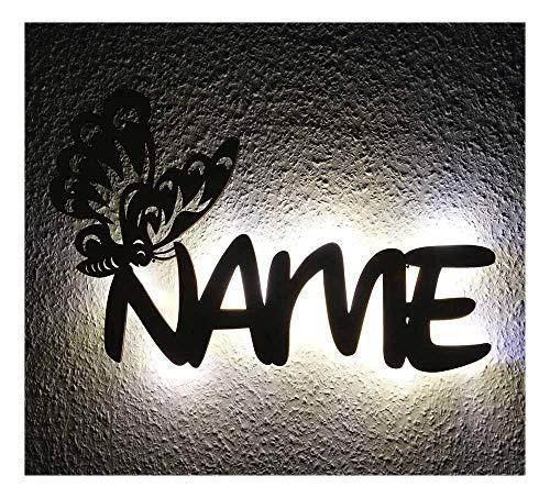 Schlummerlicht Nachtlicht als Taufgeschenk oder Geschenk zur Geburt für Mädchen personalisiert mit Namen