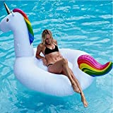 Aufblasbarer Einhorn Pool Riesige PVC Schwebebett Im Freienswimmingpool Für Erwachsene / Kinder Offener , Pool Spielzeug